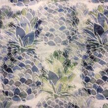 Портьерная ткань из хлопка с растительным орнаментом