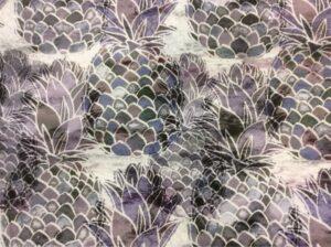 Портьерная ткань из хлопка в фиолетовых и зелёных оттенках