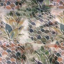 Пестрая портьерная ткань из хлопка с растительным орнаментом