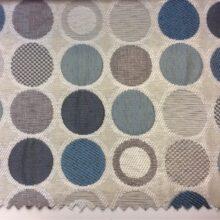 Портьерная ткань в серо-бирюзовых оттенках