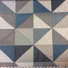 Ткань — треугольники в серо-бирюзовых тонах