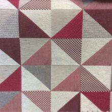 Портьерная ткань — треугольники в серо-розовых тонах