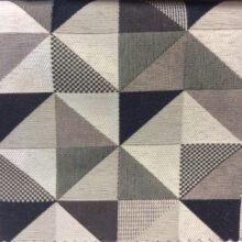 Портьерная ткань треугольники в тёмных и серо-бежевых тонах
