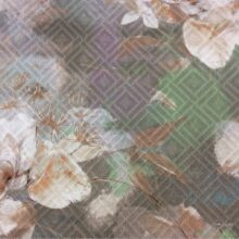 Портьерная ткань с растительным орнаментом 100% коттон