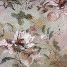 Портьерная ткань из хлопка с растительным орнаментом, м. Владыкино