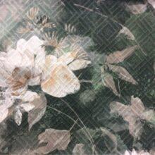 Портьерная ткань из хлопка в тёмно-зелёных оттенках