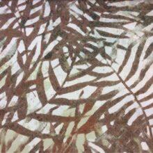 Портьерная ткань из хлопка с растительным орнаментом в цвете какао