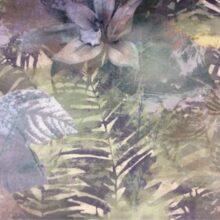 Портьерная ткань 100% полиэстер с растительным орнаментом