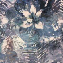 Портьерная ткань из мягкого велюра с растительным орнаментом