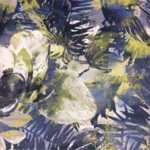Портьерная ткань из мягкого велюра в сине-зелёных оттенках