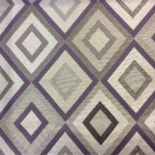 Портьерная ткань ромбы в серебристых, серых и фиолетовых тонах