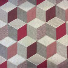 Портьерная ткань кубы в серебристо-розовых оттенках