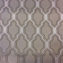 Портьерная серебристая ткань с мягким геометрическим рисунком