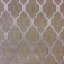 Портьерная золотистая ткань с мягким геометрическим рисунком