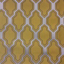 Портьерная атласная ткань с серебристо-желтым оттенком