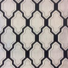 Портьерная атласная ткань серебристо-чёрного цвета