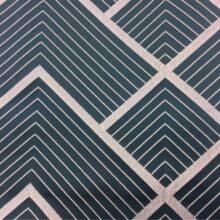 Портьерная атласная ткань с геометрическим рисунком