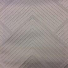 Портьерная атласная молочная ткань с геометрическим рисунком