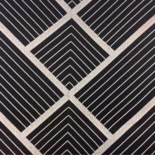 Портьерная серебристо-чёрная атласная ткань