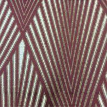 Портьерная атласная ткань с крупным геометрическим рисунком
