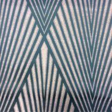 Портьерная атласная с крупным геометрическим рисунком из Германии