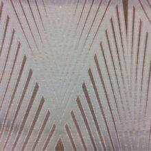 Портьерная атласная ткань мята с крупным геометрическим рисунком