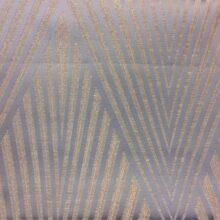 Портьерная атласная ткань шампань геометрическим рисунком