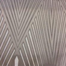 Портьерная атласная ткань с крупным геометрическим рисунком шампань