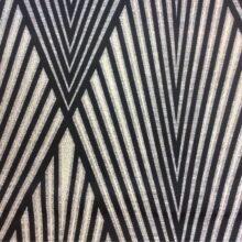 Портьерная атласная в серебристо-чёрных оттенках
