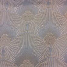 Портьерная атласная ткань шампань с геометрическим рисунком
