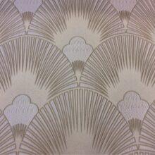 Портьерная серебристая атласная ткань с мягким геометрическим рисунком
