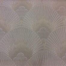 Портьерная атласная ткань в серебристо-бежевых оттенках
