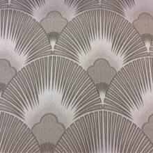 Портьерная атласная ткань в серебристо-серых оттенках