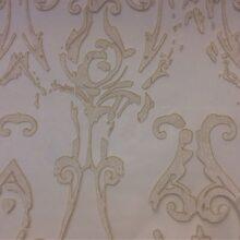 Тюлевая ткань из органзы с травлением в стиле винтаж