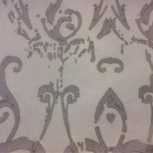 Тюлевая ткань из органзы серебристая в стиле винтаж