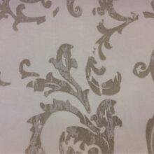 Тюлевая ткань из органзы с травлением в стиле винтаж в цвете титан
