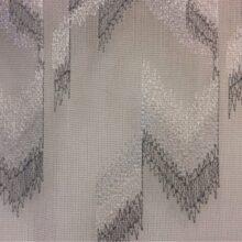 Тюлевая ткань, сетка с вышитым геометрическим орнаментом