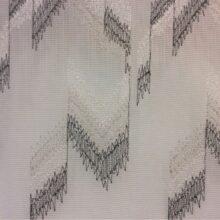 Тюлевая ткань, сетка с вышитым геометрическим рисунком в стиле лофт