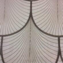 Тюлевая ажурная ткань с мягкими полукружьями