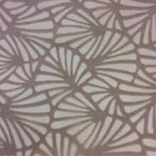 Тюлевая ткань из органзы с травлением в цвете какао