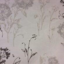 Тюлевая ткань из хлопка с цветочно-растительным орнаментом