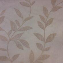 Тюлевая ткань капучино из батиста с растительным орнаментом