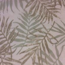 Тюлевая ткань из тонкого батиста с зеленым растительным орнаментом