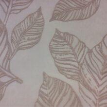 Тюлевая ткань из тонкого батиста с нанесением крупных листьев из Германии