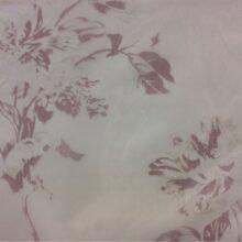 Тюлевая ткань из тонкого батиста с размытым темно-розовым цветочным орнаментом
