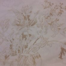 Тюлевая ткань из тонкого батиста с размытым цветочным орнаментом