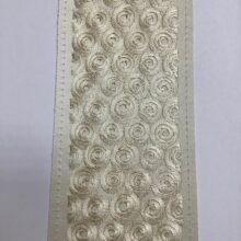 Декор бордюр для отделки портьер и покрывала в золотисто-кремовых оттенках
