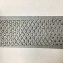 Декор бордюр для отделки портьер и покрывала серебристый