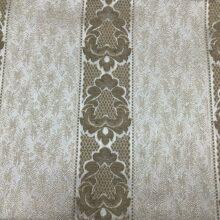 Портьерная жаккардовая ткань в классическом стиле золотистая