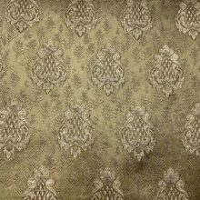 Портьерная жаккардовая ткань с мелким рисунком в классическом стиле бронза